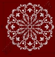 Рис. РН79. Наборная потолочная розетка составлена из элементов орнамента: ФР0004 (8шт), ФР0014 (8шт), ФР0027 (32шт), ФР0042 (8шт), ФР0092 (8шт), ФР0098 (16шт), ФР0107 (8шт), ФР0108 (16шт), ФР0113 (8шт) потолочная розетка РЗ 180 (1шт). Розничная цена элементов составляет 5465 грн.