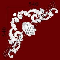 Рис. УН26. Гипсовый наборной угол составлен из элементов орнамента: ФР0027 (2шт), ФР00291 (2шт), ФР0040 (1шт), ФР0054 (1шт) - 420 грн/1 угол