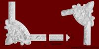 Код товара ГР05001-1. Угловой элемент из гипса шириной 50 мм., стыкуется с МР05001. Розничная цена 120 грн./шт.