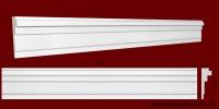 Код товара МЛ11002. Молдинг из гипса шириной 110 мм и длиной 1000 мм. Розничная цена 120 грн./шт.