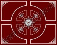 Рис. П005. Размер потолка: 5000х4000 мм.. Композиция состоит из модингов: МЛ5101 (20шт) и арочных МЛ5101 (8шт); МЛ2502 (4шт) и арочных МЛ2502 (4шт). Наборной угол состоит из элементов орнамента: ФР0042 (1шт), ФР0027 (2шт), ФР0034 (2шт), ФР0009 (2шт), ФР0019 (2шт), ФР0004 (1шт). Наборная потолочная розетка состоит из элементов орнамента: ФР0004 (8шт), ФР0013 (8шт), ФР0027 (16шт); светильника СВ14 (4шт) и орнамента: ФР0004 (8шт), ФР0027 (16шт).