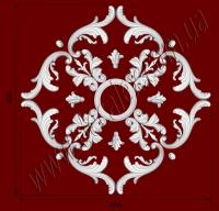 Рис. РН10. Наборная потолочная розетка составлена из элементов орнамента: ФР0011 (8шт), ФР0015 (8шт), ФР0032 (4шт), ФР0013 (4шт), ФР0019 (8шт), ФР0014 (4шт), потолочная розетка РЗ180 (1шт). Розничная цена элементов составляет 1340 грн.