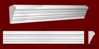 Код товара МЛ07301. Плинтус из гипса шириной 73 мм и длиной 998 мм. Розничная цена 90 грн/шт.