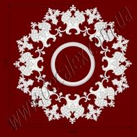 Рис. РН51. Наборная потолочная розетка составлена из элементов орнамента: ФР0018 (8шт), ФР0042 (8шт), ФР0079 (8шт), РЗ 4401 (1шт). Розничная цена элементов составляет 1990 грн.
