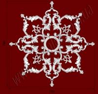 Рис. РН02. Наборная потолочная розетка составлена из элементов орнамента: ФР0027 (8шт), ФР0009 (8шт), ФР0004 (4шт), ФР0019 (8шт), ФР0018 (8шт), накладка РЗ180 (1шт). Розничная цена элементов составляет 1360 грн.