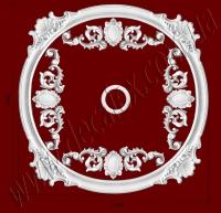 Рис. РН35. Наборная потолочная розетка составлена из элементов орнамента: ДГ0002 (4шт), ФР00291 (8шт), ФР0054 (4шт), потолочная розетка РЗ180 (1шт). Розничная цена элементов составляет 2425 грн.