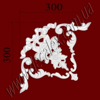 Рис. УН38. Гипсовый наборной угол составлен из элементов орнамента: ФР0018 (1шт), ФР0019 (2шт), ФР0052 (2шт), ФР0082 (2шт), ФР0084 (1шт) - 235 грн/1 угол