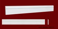 Код товара ПЛ07001. Плинтус из гипса шириной 70 мм и длиной 1000 мм. Розничная цена 70 грн/шт.