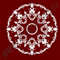 Рис. РН72. Наборная потолочная розетка составлена из элементов орнамента: ФР0013 (8шт),ФР0040 (16шт), ФР00291 (16шт), ФР0054 (8шт), ФР0073 (16шт), ФР0079 (8шт), ФР0090 (8шт), РЗ 4401 (1шт). Розничная цена элементов составляет 5470 грн.