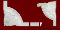 Код товара ГР03301-1. Угловой элемент из гипса шириной 33 мм., стыкуется с МP03301. Розничная цена 95 грн./шт.
