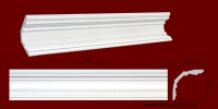 Код товара КЛ1201201. Карниз из гипса длиной 803мм., стыкуеться с КР1201201 и КР1201201У. Габариты: 120мм х 120мм. Розничная цена 180 грн/шт.