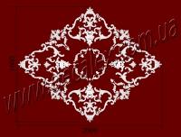 Рис. РН89. Наборная потолочная розетка составлена из элементов орнамента: ФР0009 (12шт),ФР0011 (8шт), ФР0014 (4шт),ФР0015 (8шт),ФР0034 (12шт), ФР0042 (4шт), ФР0065 (4шт), ФР0084 (4шт), ФР0092 (8шт), ФР0098 (8шт), ФР0113 (2шт). Розничная цена элементов составляет 3300 грн.