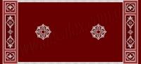 Рис. П021. Размер потолка: 2650х5700 мм.. По краям потолка использован карниз: КР0900901 (9шт). Молдингом обрамлены кессоны МЛ2502 (16шт) . Наборная потолочная розетка состоит из элементов орнамента: ФР0018 (4шт); ФР0019 (8шт); ФР0033 (8шт); ФР0043 (4шт), потолочная розетка РЗ180 (1шт). Узор кессона 450х450 мм.. состоит из элементов орнамента: ФР0014 (2шт), ФР0019 (4шт), ФР0033 (4шт), ФР0042 (1шт). Узор кессона 450х1400 мм.. состоит из элементов орнамента: ФР0004 (4шт), ФР0018 (4шт), ФР0019 (8шт), ФР0033 (8шт), ФР0042 (2шт), ФР0043 (2шт).
