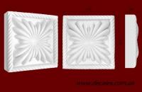 Код товара КВ0003.  Элемент оформления дверных проемов: квадратная вставка из гипса.  Розничная цена 50 грн./шт.