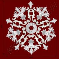 Рис. РН17. Наборная потолочная розетка составлена из элементов орнамента: ФР0013 (5шт), ФР0042 (5шт), ФР0052 (10шт), потолочная розетка РЗ12 (1шт). Розничная цена элементов составляет 1000 грн.