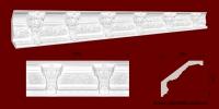 Код товара КР1351601. Карниз из гипса длиной 600мм. Габариты: 135мм х 160мм. Розничная цена 180 грн./шт.Минимальный заказ 10 метров.