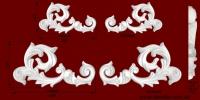 Код товара ФР00291Л, ФР00291П и ФР00292Л, ФР00292П Орнамент из гипса.   Розничная цена ФР00291 - 110 грн./шт., ФР00292 - 320 грн./шт.