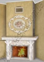Рис. К07. Для оформления данного портала электрического камина использовались: КС14 (2шт); КР1120771 (3шт); ФР0009 (2шт); ФР0013 (1шт); ФР0014 (1шт); ФР0015(2шт);.