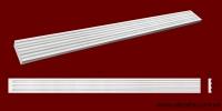 Код товара ПТ0951.  Тело пилястры из гипса шириной 97 мм и длиной 1001 мм. Розничная цена 130 грн./шт.