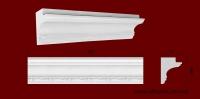 Код товара КЛ0980771. Карниз из гипса длиной 555мм., стыкуеться с молдингом МP07501. Розничная цена 80 грн/шт.Минимальный заказ 10 метров.