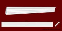 Код товара КЛ0550501. Карниз из гипса длиной 1001мм. Габариты: 55мм х 50мм. Розничная цена 75 грн/шт.