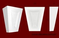 Код товара ЗМ 02. Элемент оформления дверных проемов: вставка из гипса. Розничная цена 130 грн./шт.