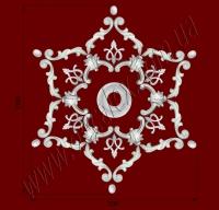 Рис. РН23. Наборная потолочная розетка составлена из элементов орнамента: ФР0004 (6шт), ФР0014 (6шт), ФР0031 (6шт), ФР0052 (12шт), потолочная розетка РЗ 12 (1шт). Розничная цена элементов составляет 920 грн.