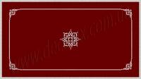 Рис. П016. Размер потолка: 3100х5500 мм..По краям потолка использован карниз: КР70702 (18шт). Рамка состоит из молдинга: МЛ2502 (12шт), ГЛ2502-5 (8шт). Наборной угол составлен из элементов орнамента: ФР0004 (1шт), ФР0009 (2шт), ФР0014 (1шт), ФР0027 (2шт), ФР0033 (2шт). Наборная потолочная розетка составлена из элементов орнамента: ФР0027 (8шт); ФР0009 (8шт); ФР0004 (4шт); ФР0019 (8шт); ФР0018 (8шт), потолочная розетка РЗ 180 (1шт).