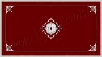Рис. П014. Размер потолка: 3100х5500 мм..По краям потолка использован карниз: КР70702 (18шт). Рамка состоит из молдинга: МЛ2502 (12шт), ГЛ2502-5 (8шт). Наборной угол составлен из элементов орнамента: ФР0042 (1шт), ФР0011 (2шт), ФР0019 (2шт), ФР0034 (2шт), ФР0009 (2шт), ФР0046 (1шт), ФР0013 (1шт). Наборная потолочная розетка составлена из элементов орнамента: ФР0013 (4шт), ФР0011 (8шт), ФР0009 (4шт).