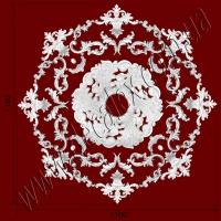 Рис. РН13. Наборная потолочная розетка составлена из элементов орнамента: ФР0042 (8шт), ФР0033 (8шт), ФР0027 (8шт), ФР0014 (4шт), ФР0009 (8шт), ФР0041 (4шт), потолочная розетка РЗ5201 (1шт). Розничная цена элементов составляет 2660 грн.