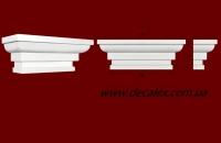 Код товара ПК1001.  Капитель из гипса для тела пилястры, молдинга шириной 95...100 мм.  Розничная цена 90 грн./шт.