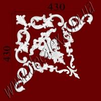 Рис. УН54. Гипсовый наборной угол составлен из элементов орнамента: ФР0013 (1шт), ФР0019 (2шт), ФР0027 (2шт), ФР0032 (1шт), ФР0033 (2шт),ФР0084 (1шт), ФР0091 (2шт) - 500 грн/1 угол