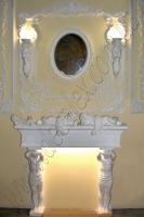 (Рис. 2.1.28) Каминные ангела НП02Л, НП02П (гипсовые статуэтки спящих ангелов). Наборной гипсовый камин состоит из элементов: ДП0003(4шт); КС18 (2шт).