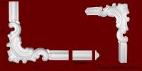 Код товара ГЛ04001-1. Угловой элемент из гипса шириной 40 мм., стыкуется с МЛ04001. Розничная цена 70 грн./шт.