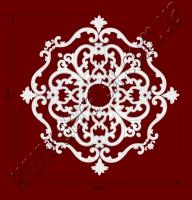 Рис. РН85. Наборная потолочная розетка составлена из элементов орнамента: ФР0014 (4шт), ФР0098 (8шт), ФР0102 (4шт), ФР0113 (4шт), ФР0117 (4шт). Розничная цена элементов составляет 1160 грн.