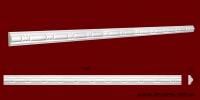 Код товара МР02201. Молдинг из гипса шириной 22 мм и длиной 1000 мм. Розничная цена 60 грн./шт.