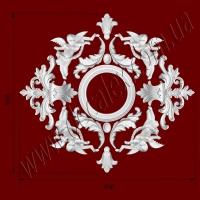 Рис. РН18. Наборная потолочная розетка составлена из элементов орнамента: ФР0009 (4шт), ФР0013 (2шт), ФР0014 (2шт), ФР0017 (4шт), ФР0042 (2шт), потолочная розетка РЗ180 (1шт). Розничная цена элементов составляет 725 грн.