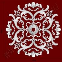 Рис. РН08. Наборная потолочная розетка составлена из элементов орнамента: ФР0019 (8шт), ФР0018 (4шт) ФР0011 (8шт), ФР0034 (8шт), ФР0004 (4шт), ФР0008 (8шт), ФР0025 (4шт), накладка РЗ10 (1шт). Розничная цена элементов составляет 1590 грн.